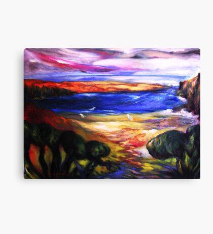 Big Sur River Meets Pacific Canvas Print