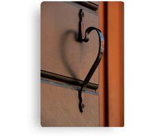 A Doorknob That Has A Heart Canvas Print