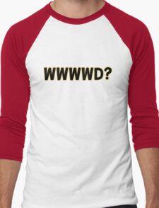 What Would Wonder Woman Do? Men's Baseball ¾ T-Shirt