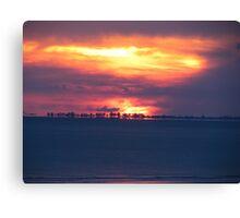 Orange Florida Sunset Canvas Print