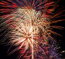 Beautiful Fireworks Display by Kenneth Keifer