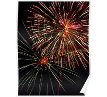 Pyrotechnics Show in the Night Sky Poster