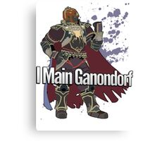 I Main Ganondorf - Super Smash Bros. Canvas Print