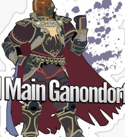 I Main Ganondorf - Super Smash Bros. Sticker