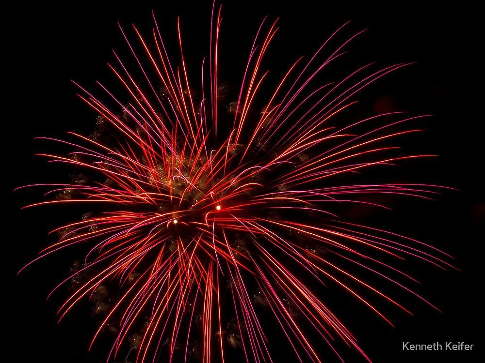 Colorful, Brilliant Fireworks! by Kenneth Keifer