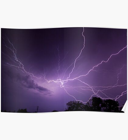 Fantastic Lightning Display Poster