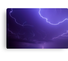 Brilliant and Vivid Bolts of Lightning Canvas Print
