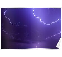Brilliant and Vivid Bolts of Lightning Poster