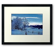 Winter Afternoon, Austria Framed Print