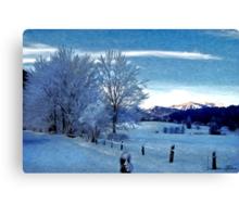 Winter Afternoon, Austria Canvas Print