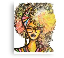 Beauty & Brains Metal Print