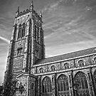 Cromer Church Black and white by James Taylor