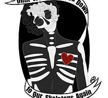 Twin Skeletons by WiltingDaisy