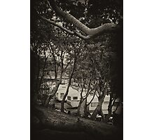 Retro campers. Photographic Print