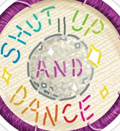 Walk the Moon Shut Up & Dance Embroidery Style Design Sticker