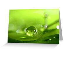 Pea Green Greeting Card