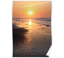 Seascape at Sunrise Poster