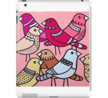 Colourful birds in pink iPad Case/Skin