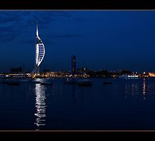 Spinaker tower, Portsmouth, from Gosport by David Portwain
