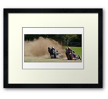 Grass track racing Framed Print