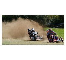 Grass track racing Photographic Print