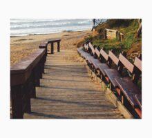 Boardwalk to Dicky Beach   One Piece - Short Sleeve