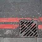 Red lines and drain  by richard  webb