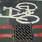 Bike and red lines by richard  webb