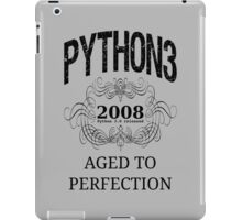 Black on Grey Vintage Design for Python 3 Advocates iPad Case/Skin