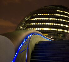London Building By Night by Mark Taylor