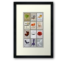 famous chairs Framed Print