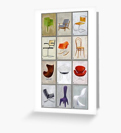 famous chairs Greeting Card