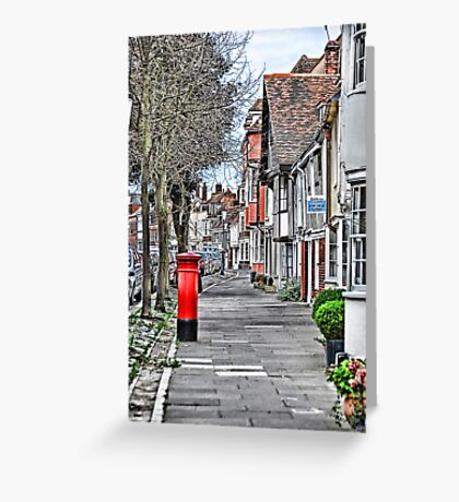 Red Postbox Greeting Card