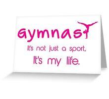 Gynastics, Sports, Gymnast Greeting Card