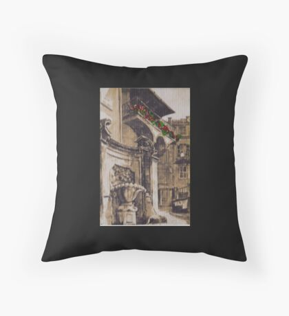 BALCONY IN ROME Throw Pillow