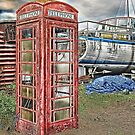 Red Telephone Box by Sue Martin