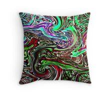 Liquid Grafitti Throw Pillow