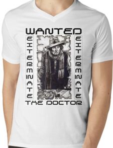 Wanted - The Doctor Mens V-Neck T-Shirt