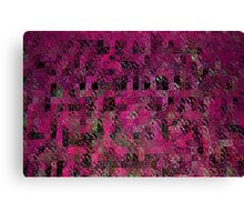 Pink Abstract Blocks Canvas Print