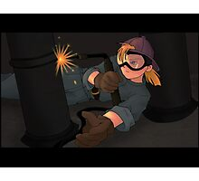Girl Welding Photographic Print