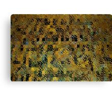 Abstract Golden Blocks Mosaic Canvas Print