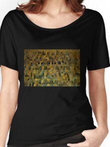 Abstract Golden Blocks Mosaic Women's Relaxed Fit T-Shirt
