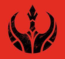 Rebels Segmented Logo (Black on Red) by JoshBeck