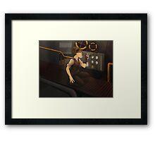 The Steam Room Framed Print