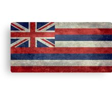 State Flag of Hawaii,  retro style vintage 1-2 scale version Canvas Print