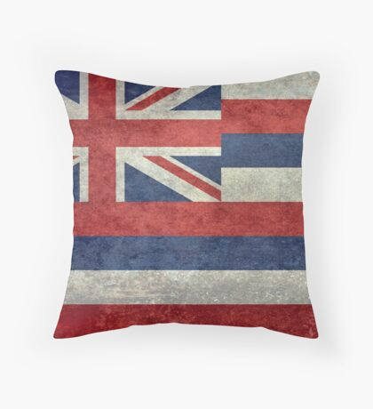 State Flag of Hawaii,  retro style vintage 1-2 scale version Throw Pillow