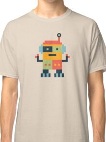 Happy Robot Pattern Classic T-Shirt