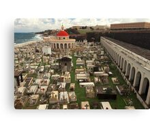 Rest In Peace - The Old San Juan Cemetery Canvas Print