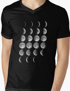 Moon Phases Mens V-Neck T-Shirt