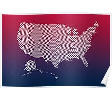 United States of America abstract geometric pattern map Poster